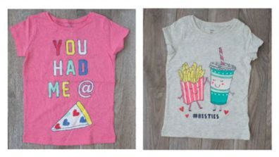 Food graphics on children's apparel examined in the study