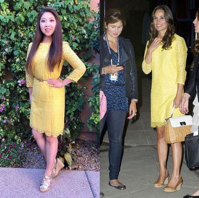 Chanelling Pippa Middleton in yellow