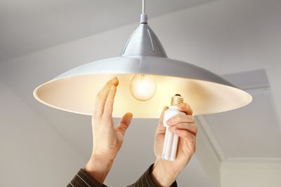 <strong>Changing a light bulb - 34 calories in 15 minutes</strong>