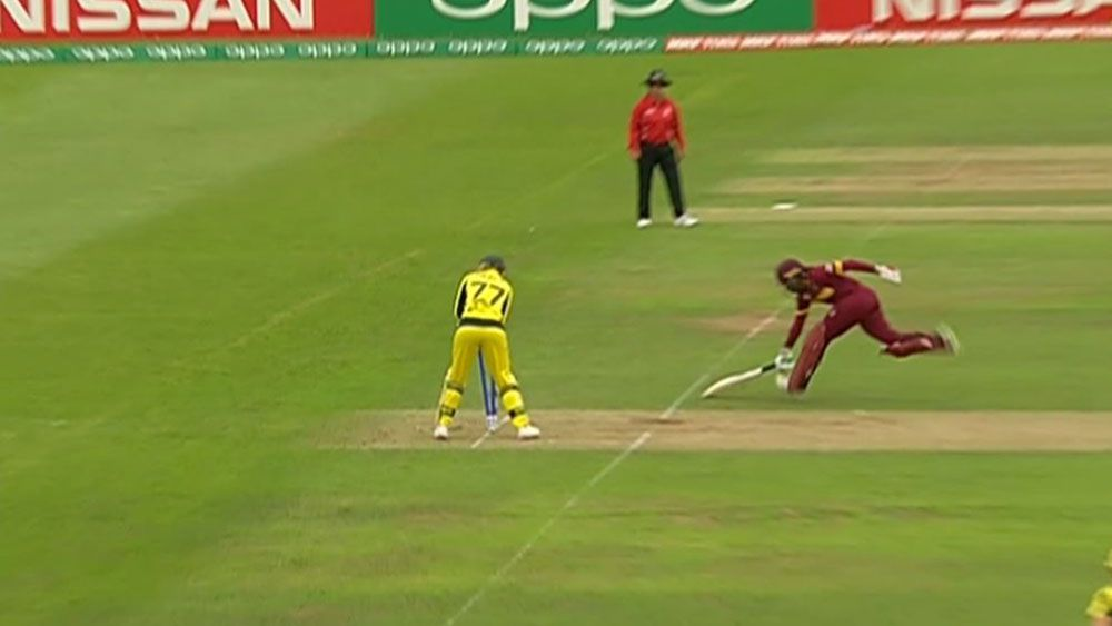 Aussies robbed of certain run out against West Indies at cricket world cup