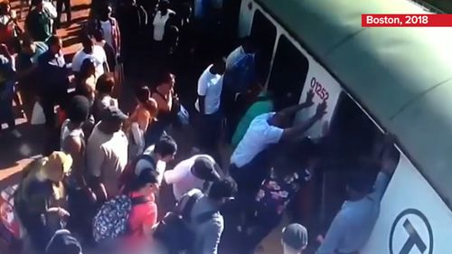 He was able to rally a crowd of commuters to enact a similar rescue. Picture: 9NEWS