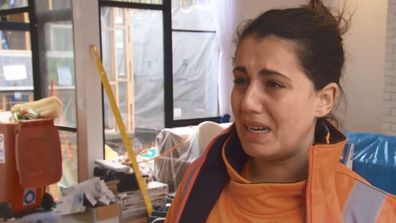 How dare that tradie make Sarah cry! The Block 2020.