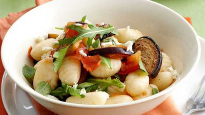 "Recipe:&nbsp;<a href=""/2016/05/17/11/11/eggplant-and-tomato-gnocchi-for-920"" target=""_top"">Eggplant and tomato gnocchi</a>"