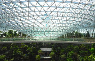Jewel Changi was designed by world-famous architect Moshe Safdie, also behind the Marina Bay Sands