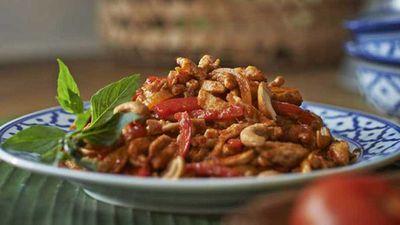 """Recipe:<a href=""""http://kitchen.nine.com.au/2017/01/31/11/49/chilli-jam-chicken-stir-fry"""" target=""""_top"""">Chilli jam chicken stir fry</a>"""