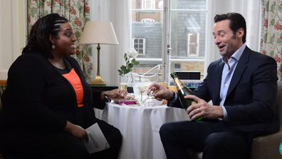 Alison Hammond interviews Hugh Jackman in 2017.