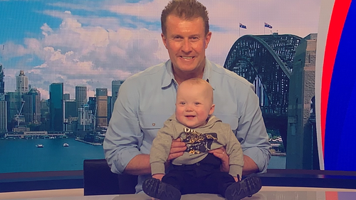9News presenter Pete Overton meets fan with rare heart condition