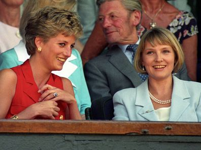 Princess Diana and Julia Samuel pictured in 1994.