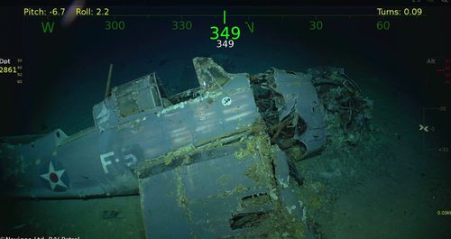 A sunken aircraft was discovered among the wreckage. (Supplied)
