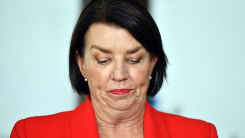Australian Banking Association CEO Anna Bligh at a press conference in response to the releasing of the Banking Royal Commission.