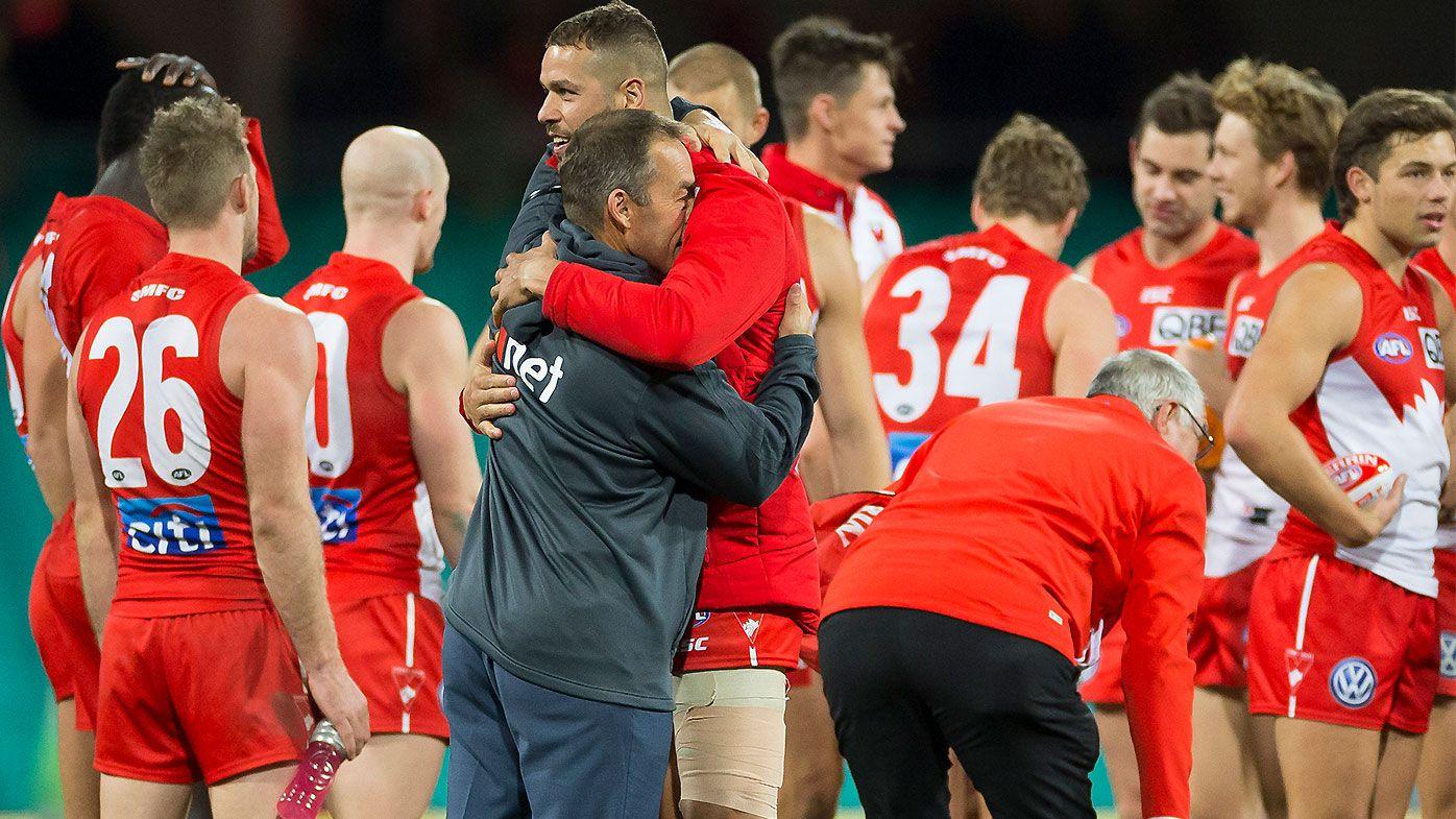 Lance Franklin hamstring injury mars impressive Sydney win over Hawthorn