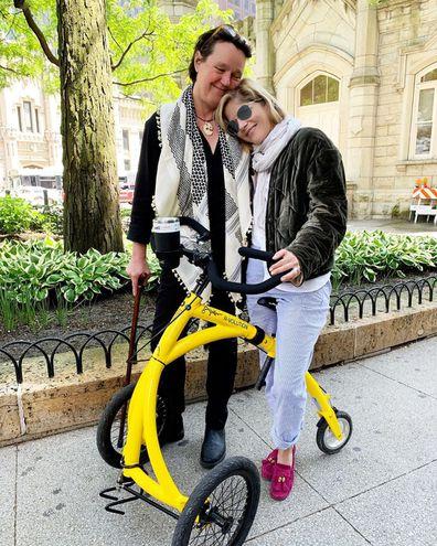 Selma Blair on walking bike