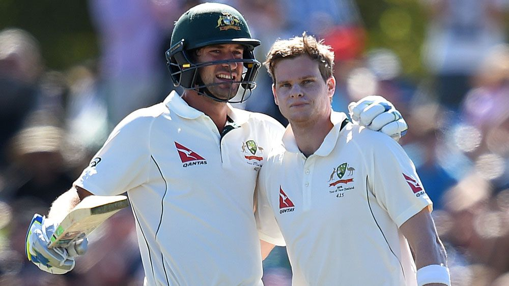 Smith, Burns tons put Aussies on top in NZ