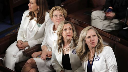 Democratic congresswomen wore white during the State of the Union to advocate for women's rights.