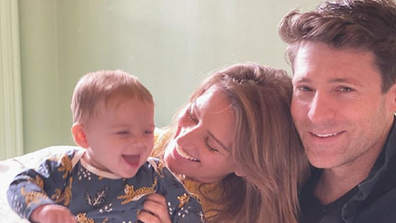 Katy Tur and Tony Dokoupil with their son Theordore.
