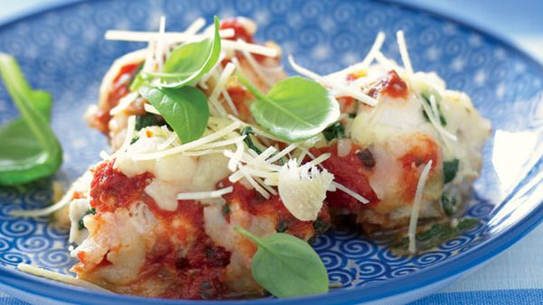 Ricotta and spinach fish gnocchi