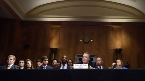 US Secretary of State Mike Pompeo testifies before Congress. (AAP)