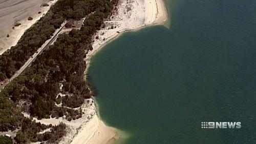 The hole is at Inskip Point near Rainbow Beach.
