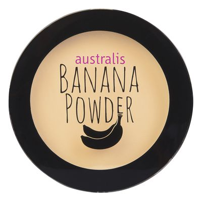 """<a href=""""https://www.australiscosmetics.com.au/product/46017/banana-powder"""" target=""""_blank"""" draggable=""""false"""">Australis Banana Powder, $14.95.</a><br> This multi-purpose pressed powder covers imperfections, banishes dark circles and corrects redness. Wear it over your fave foundation or alone."""