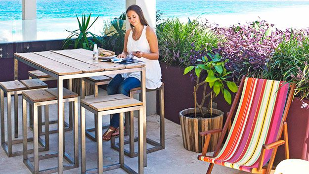 Bright outdoor furniture