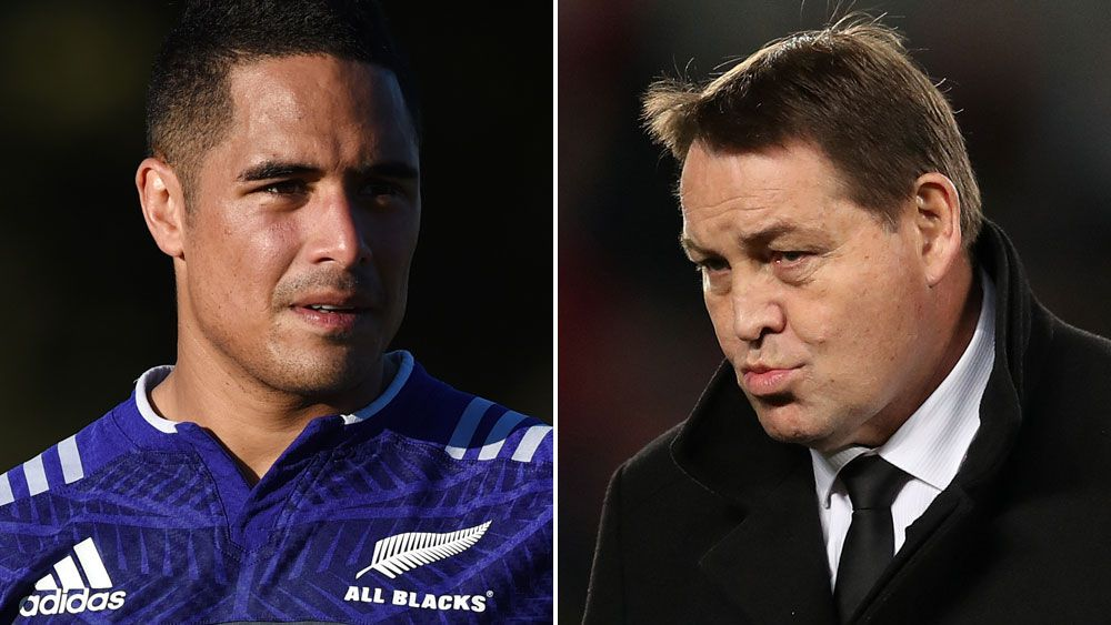 Under-fire All Black Aaron Smith and coach Steve Hansen. (AAP)