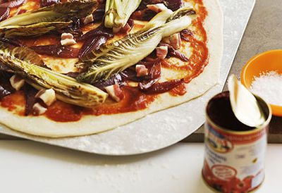 Radicchio, pancetta and onion