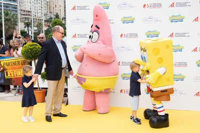 Prince Jacques and Princess Gabriella meet SpongeBob SquarePants, June 2019