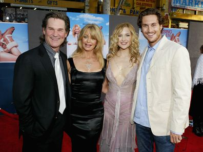 Actor Kurt Russell, actress Goldie Hawn and her kids, actress Kate Hudson and actor Oliver Hudson.