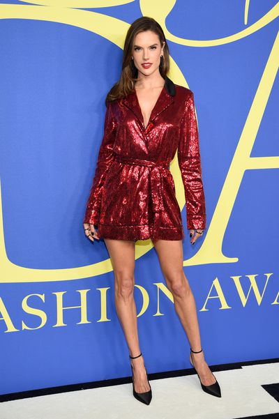 Alessandra Ambrosio in Tommy Hilfiger at the 2018 CFDA Awards