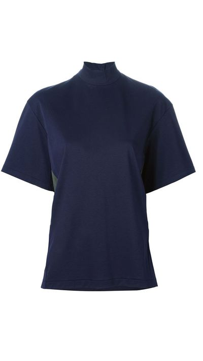 "<a href=""http://www.farfetch.com/au/shopping/women/kolor-panelled-turtleneck-t-shirt-item-10997881.aspx?storeid=9650&amp;ffref=lp_11_2_ "">Panelled Turtleneck T-Shirt, $382.41, Kolour</a>"