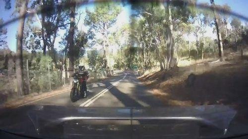 Adelaide Hills hoon motorcyclist