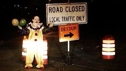 Scary clown taunts New Yorkers
