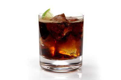 Rum and Coke: less than half a glass is 100 calories