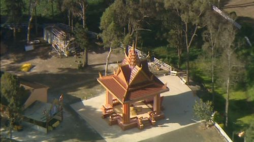 The attack occured at a Buddhist temple in Sydney's southwest. (9NEWS)
