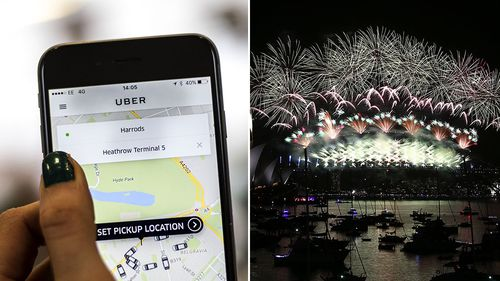 Uber app update warns riders ahead of NYE festivities