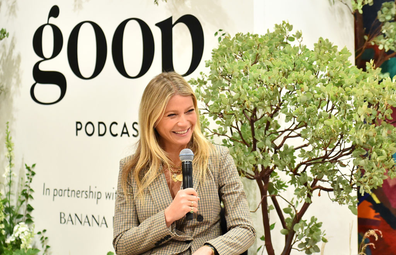 Gwyneth Paltrow speaks during Gwyneth Paltrow And Kerry Washington Host A Live Episode Of The goop Podcast with Banana Republic at Spring Place on September 19, 2019 in Beverly Hills, California
