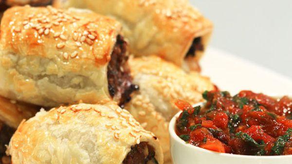 Lyndey Milan's spicy lamb sausage rolls