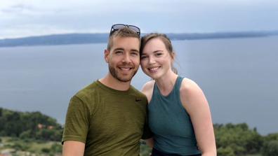 Couple holiday photo
