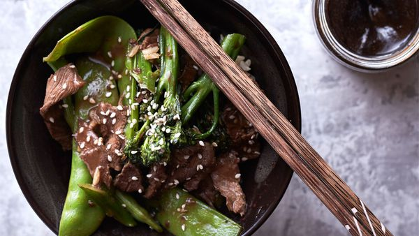 The Whole Hearted Cook's beef and broccolini stir-fry with homemade hoisin recipe