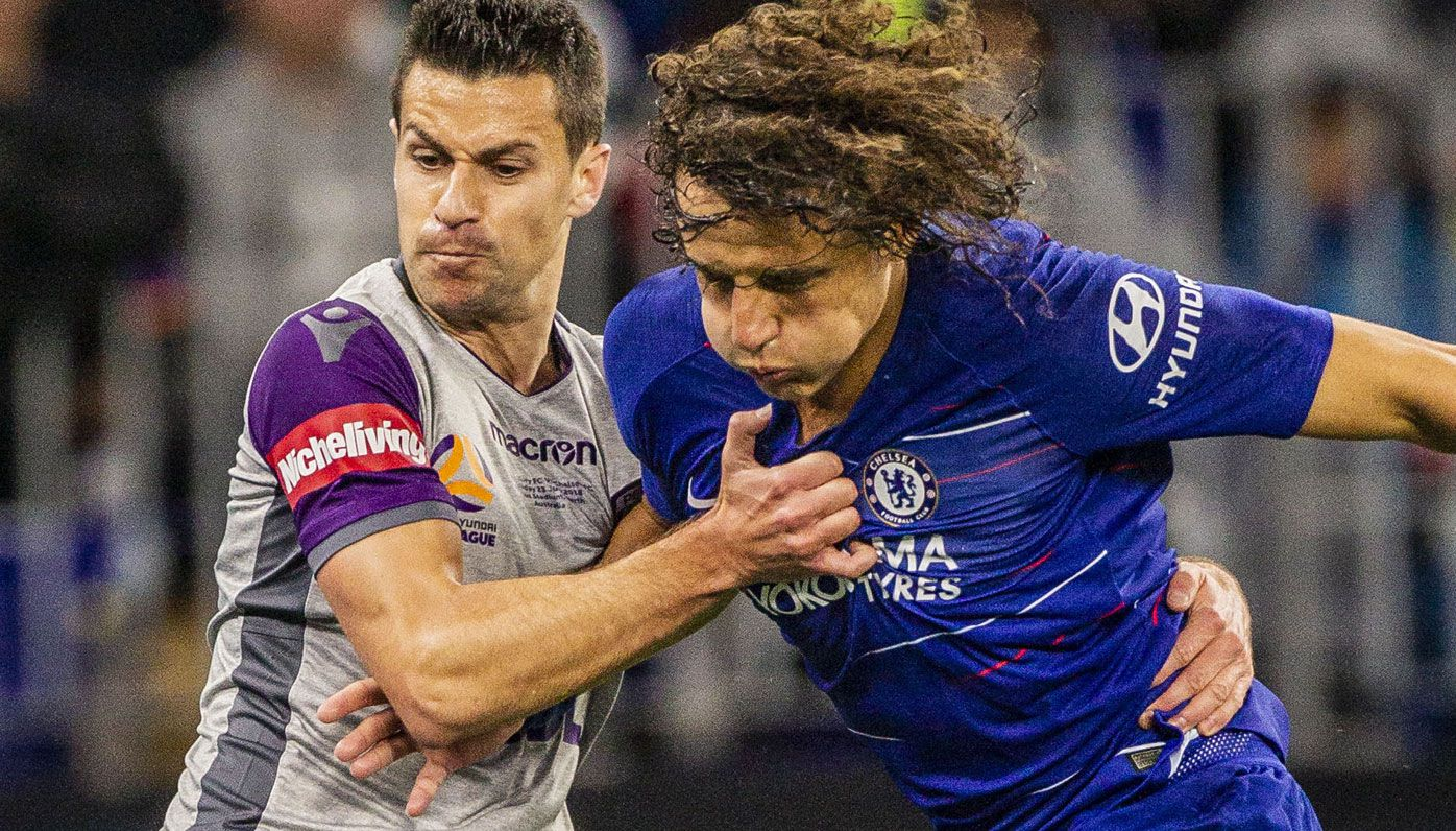Perth Glory hold their own against English Premier League giant Chelsea in friendly at Optus Stadium