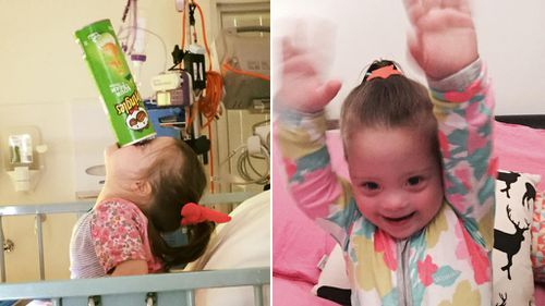 Millie will be leaving the hospital next week where she will continue treatment from home. (Facebook)