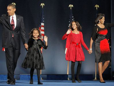 Barack Obama Malia Sasha Michelle Obama 1
