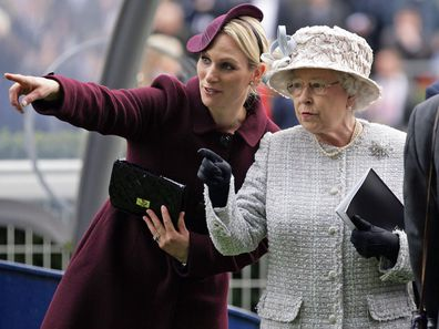 Zara Tindall with the Queen