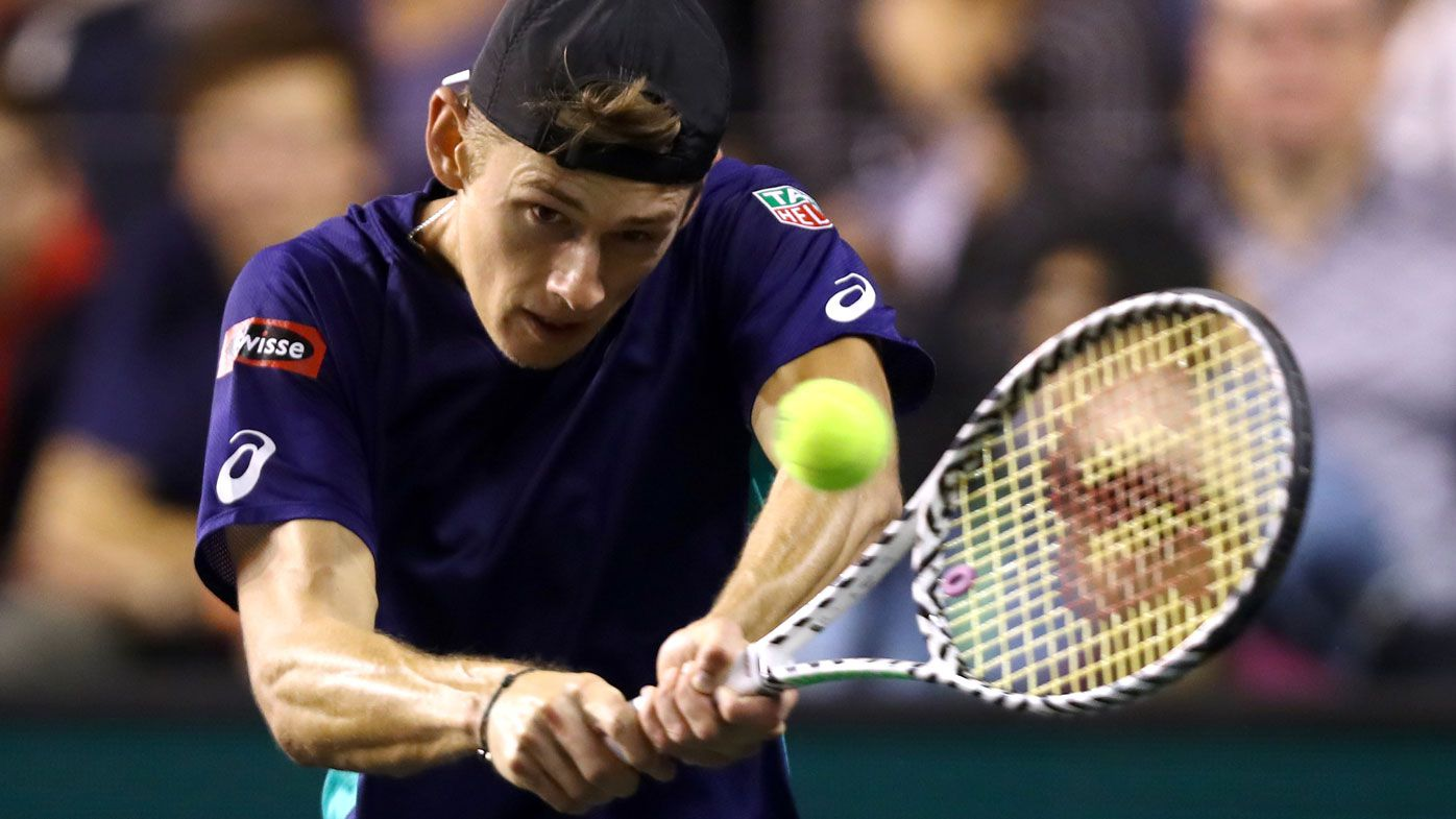 Alex de Minaur marches on at Paris Masters with comfortable win over Laslo Djere