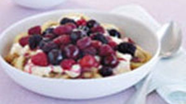 Simple fruit trifle