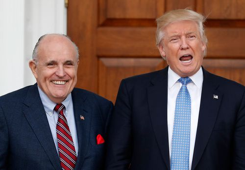 Mr Giuliani supported Mr Trump during his presidential campaign. (AAP)
