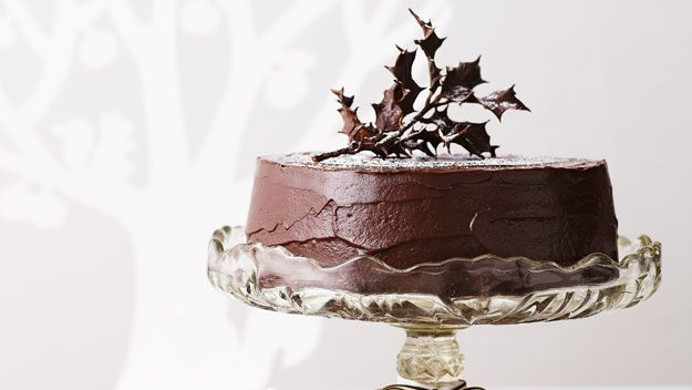 Rich chocolate fruit cake