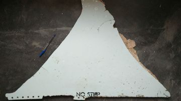 A piece of debris was found in Mozambique in February. (AAP)