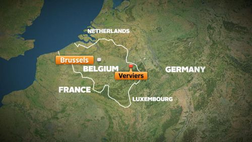 The raids occurred in the eastern city of Verviers. (9NEWS)