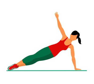<strong>Side plank (1 minute each side)</strong>